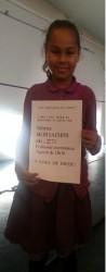 Diplôme spécial pour Hasnaa après sa partie de simultanée contre le maître FIDE Fabrice Moracchini lors de la coupe de France à Drancy.