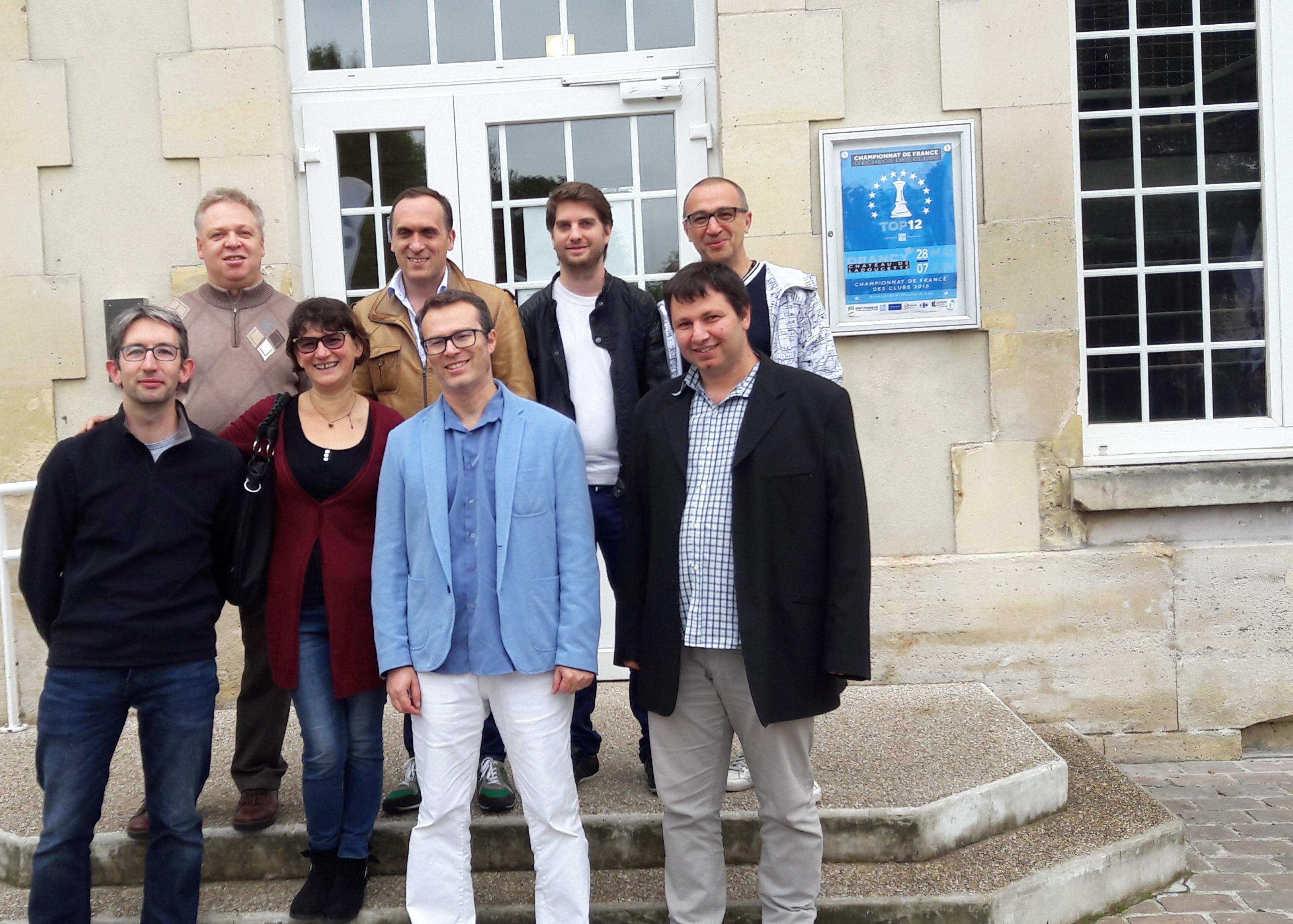De g. à gr., en haut, Komarov, Chabanon, Bijaoui, Petkov En bas, de g. à dr. Roumegous, Kogan, Todorov.